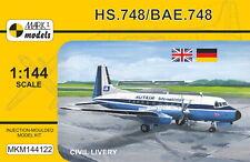 Mark I Models 1/144 Hawker-Siddeley HS.748/BAE.748 'Civil Livery' # 144122