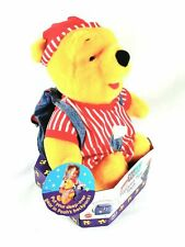 Fisher Price Disney WINNIE THE POOH Pajama Fun Sleepover Plush Backpack 1998 NEW