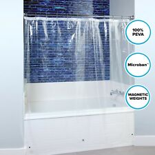 "Lightweight PEVA Shower Curtain Liner in Clear: 70"" x 72"" Mildew Resistant Liner"