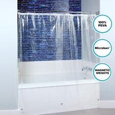 "Lightweight PEVA Shower Curtain Liner in Clear: 70"" x 72"" Mildew Resistant Liner"
