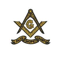 Shriner Freemason Masonic Compass Embroidered Polo Shirt Embroidered gift