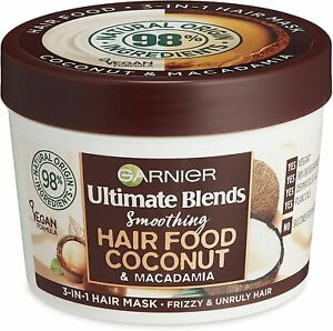 Garnier Hair Mask for Curly Hair, 3-in-1 Leave in Conditioner COCONUT - (390ml)