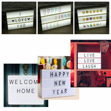 A4 Light Up Display Box LED 150 Letters Symbols +85 Expressions Wedding Party LO