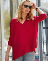 Pure Collection Cashmere Gassato Poncho Red Size S RRP £199 Box46 06 C