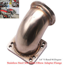 "T3 Flange to 3.0"" V-Band SS Turbo Elbow Downpipe Adapter Stainless Steel 304"