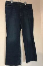 Eddie Bauer Womens Natural Fit Straight Leg Medium Wash Jeans Size: 16 Petite