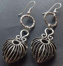 Bijoux Ethnic Tibetan Love Heart charm earrings Boho Gypsy festival