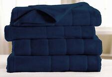 Twin - Sunbeam - Navy w/Brain® Technology Fleece Quilted Heated Electric Blanket