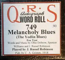 MELANCHOLY/YODLIN' BLUES PB J. RUSSEL ROBINSON  BRAND RECUT PLAYER PIANO ROLL