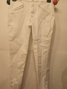 """28""""W 22""""L CHILD WHITE MARK TODD HORSE PONY RIDING COMPETITION SHOW BREECHES"""