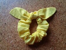 Yellow Polka Dot Hair Scrunchy Scrunchies with Bow Rabbit Ears Top Knot New