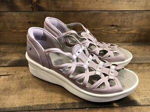Bzees Sapphire Washable Gladiator Sandal LILAC Women's Size 8.5 Wide