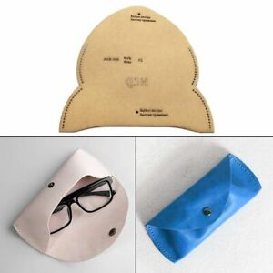 Leathercraft Glasses Case Suglasses Bag Sewing Pattern Template Diy Stencil