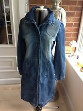 Ladies Womens Thick Denim Topshop Moto Dress Size 12
