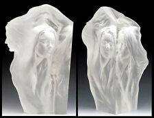 Frederick Hart Acrylic Sculpture Signed Lucite Artwork Female Nude Reflections