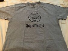 Jagermeister Liquor Whisky Whiskey Gray T Shirt Mens Adult Size XL