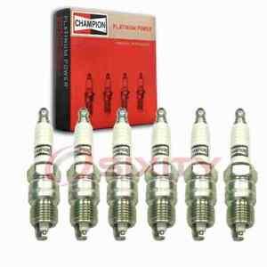 6 pc Champion Platinum Spark Plugs for 1970-1979 Chevrolet Nova 3.8L 4.1L L6 rg