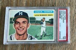 1956 Topps #69 Chuck Tanner Braves PSA 7 NM