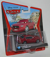 Disney PIXAR Cars 2 CARLO MASERATI #25 Red New Sealed! Mattel