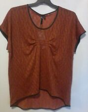 TAKING SHAPE TS GONZO TUNIC TOP NWT VOLCANIC ORANGE SIZE XL 22