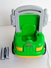 Fisher Price Little People Green Yellow Recycle Sanitation Trash Garbage Truck