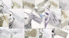 IVORY & GOLD THANK YOU,JUST MARRIED,BUTTERFLY,HEART 10 PACK GIFT FAVOUR TAGS