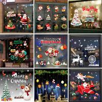 Merry Christmas Santa Glass Window Wall Stickers Vinyl Home Xmas Decor Removable
