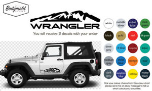 JEEP WRANGLER Mountain decals
