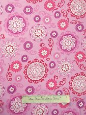 Breast Cancer Awareness Fabric - Ribbons & Flowers Pink - Windham YARD