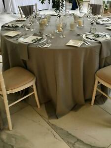Wide Round Fabric TABLE CLOTH / COVER 100% Easy Care Polyester Wedding Events