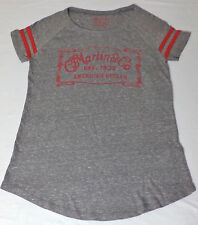 NWT CF Martin Lucky Brand S/S Gray W/Red Graphic T-Shirt      Small      L1646