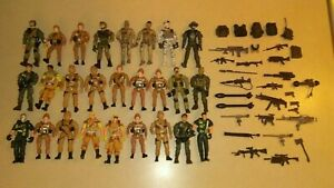 """Huge Lot of 26 Lanard Corps Military 4"""" Action Figures w/Over 30 Accessories"""