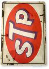 Tin Sign STP Motor Oil Sign Rustic Oil Gas Station Tin Metal Sign Garage B909