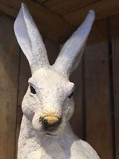 Garden ornament: White Hare - home & garden decoration    FREE DELIVERY