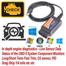 USB Cable ELM327 OBD2 OBDII V1.5 Car Diagnostic Interface Scanner Tool Mini