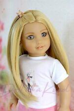 American Girl doll Natural wig Golden Heat safe Fits most 18''dolls Blythe OG