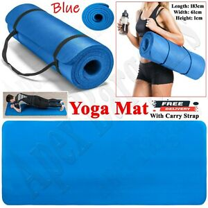 Yoga Mat Extra Thick Non Slip Gym Exercise Fitness Pilates Workout Mat Soft NBR