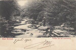 Bad Bertrich AK 1902 Idylle am Fluss bei der Entersburg Rheinland-Pfalz 2109121