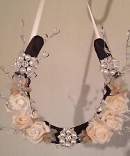 Bridal Wedding Lucky Horseshoe Gift Champagne Sprays Crystals Brooches Beautiful