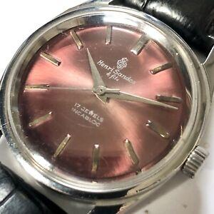 VINTAGE HENRI SANDOZ & FILS 17J WRISTWATCH Mechanical Hand Wind Watch Incabloc