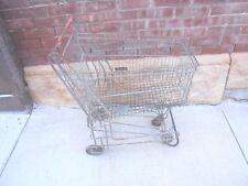 vintage metal child's grocery cart nest kart oklahoma city garden porch decor