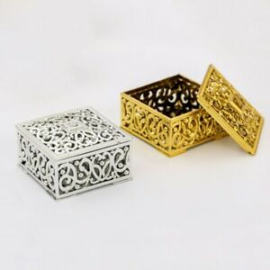 12Pcs Plastic Hollow  Square Candy Box For Wedding Supplies Favours Furniture
