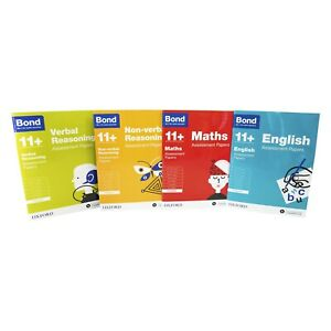 Bond 11+ Maths Assissment Papers 5-6 years 4 Books Collection Paperback Set