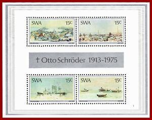 SWA Südwestafrika 1975 Otto Schröder Gemälde, Art, Landschaften, ** MNH Mi Bl. 1