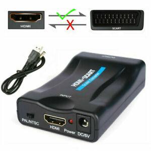 HDMI zu auf Scart Konverter Wandler AV Scaler Converter Adapter HDMI to Scart DE