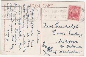 Bermuda, Postcard, Bridge at Norwood, Bermuda; Hamilton to Bakewell, 31 Jan 1930