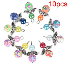 10Pcs Mixed Polymer Clay Dancing Angel Wings Charms Pendant DIY Jewelry Findings
