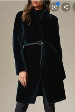 Karen millen Real Fur Coat Dark Green rpr price £1200