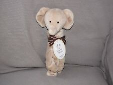 JUST ONE YEAR PRECIOUS FIRSTS TAN BROWN ELEPHANT SECURITY BLANKET LOVEY RATTLE