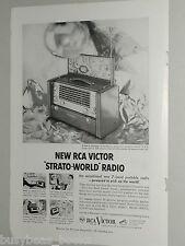 1953 Radio Corp. of America ad, RCA, Strato-World radio